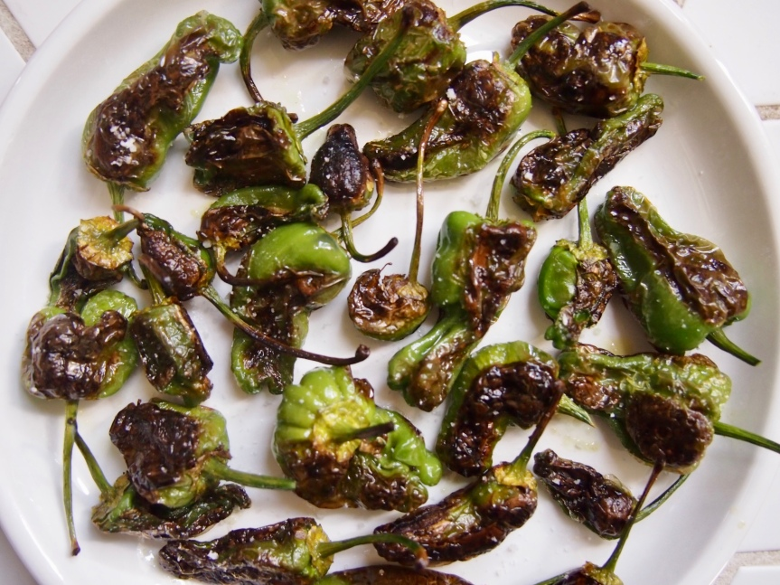 Charred padrón peppers: Impressyourself